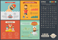 Sports flat design Infographic Template
