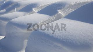Cars Under Deep Snow