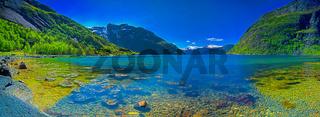 Panorama of a Norwegian fjord