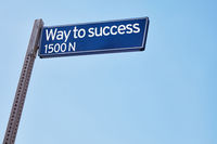 Way to success as road sign
