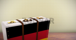 Composite image of german flag suitcase