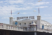 Brighton Beach Pier on the south coast of Great Britain