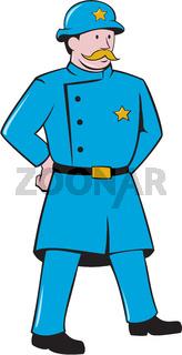 New York Policeman Vintage Standing Cartoon