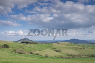 Panoramablick in die Hegaulandschaft