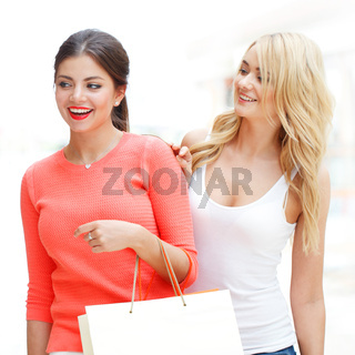 women shopping at mall