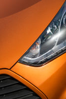 Orange sport car close-up