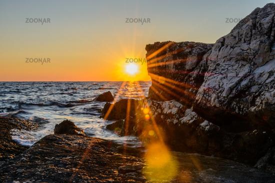 Sonnenuntergang in Bale