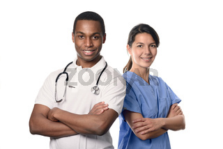 Selbstbewusste medizinische Kollegen