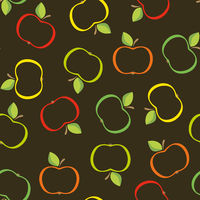 Seamless from abstract apples