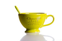 Green jumbo chocolate mug