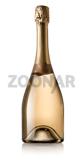 Bottle of wine isolated