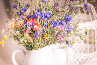 Wildflowers in jug
