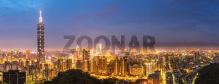 Taipei skyline Panorama