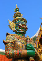Demon in Wat Phra Kaew in Bangkok