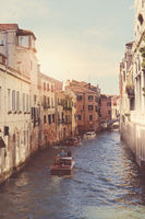 Canals of Venice with Instagram Vintage Style Filter
