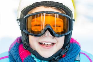 Ski, skier girl, winter vacation