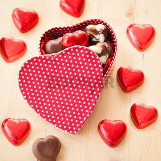 Herzen aus Schokolade