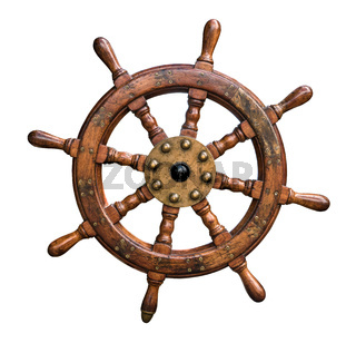 Isolated Ships Wheel