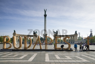 Heldenplatz Budapest Ungarn Europa