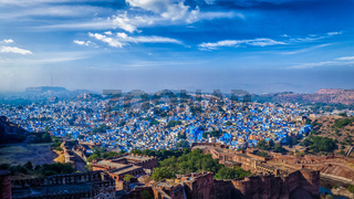 Panorama of Jodhpur Blue City. Rajasthan, India
