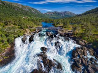 Likholefossen waterfall in Norway
