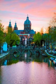 The Basilica of Saint Nicholas (Sint-Nicolaasbasiliek) in Amsterdam