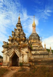 Old abandoned pagoda in Bagan