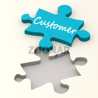 Customer blue puzzle