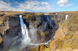 Haifoss and Grannifoss in Island