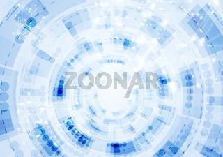 Tech blue gear drawing background