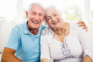 Cute senior couple smiling