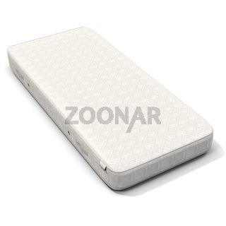 3d detailed white mattress