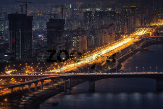 Night view over han river