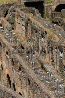 Corridors and Tunnels of Colosseum in Rome in Italy