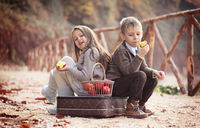 Two happy kids.