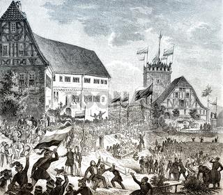 The second Wartburg festival, 1848, Wartburg Castle, Germany