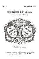 Historisches Markenzeichen der Marke Suchard Schokolade aus dem Jahr 1893