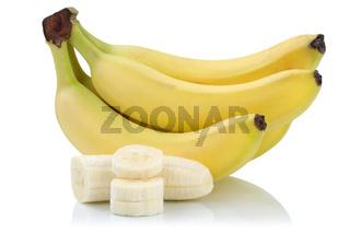 Banane Bananen geschnitten Früchte Freisteller freigestellt isoliert