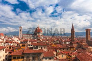 Ausblick auf Florenz Kathedrale