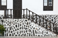 Hauseingang im kanarischem Stil auf der Insel Teneriffa, Spanien