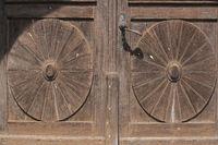 Detail einer Holztüre