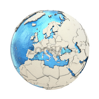 Europe on model of planet Earth