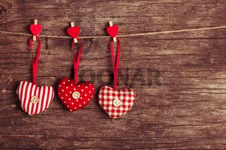 sewed valentine decor