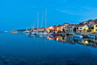 Sali harbor blue hour view