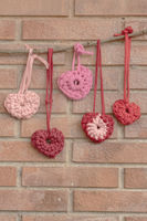 Valentine crochet decorations hearts