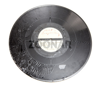 shellac record, early sample pressure