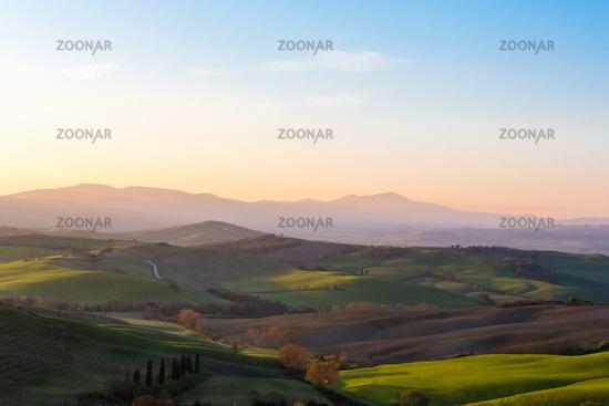 Sonnenaufgang Toskana Panorama