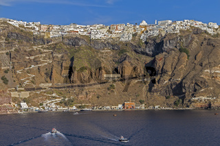 Thera The Capital Of Santorini Greece