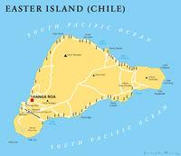 Osterinsel Landkarte