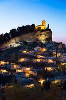 Montefrio at dusk, Province of Granada, Spain